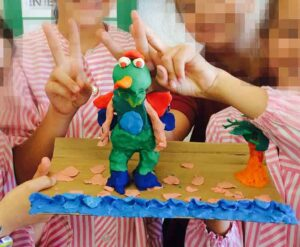 monster made of clay