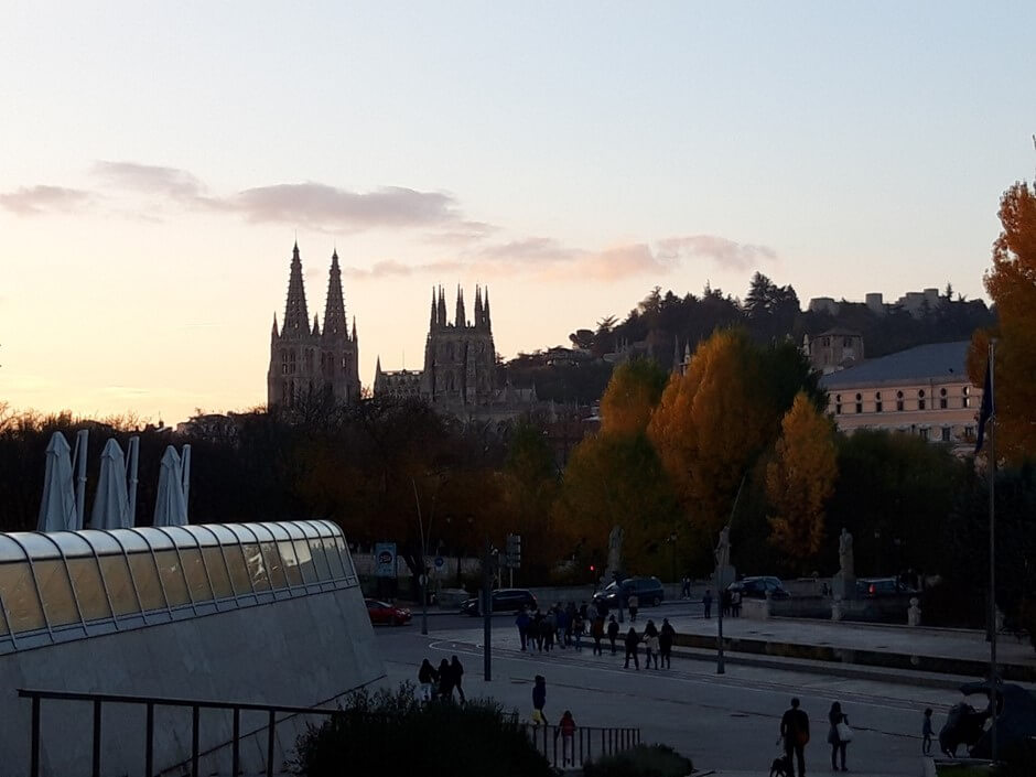View of the cathedral from the Human Evolution Museum
