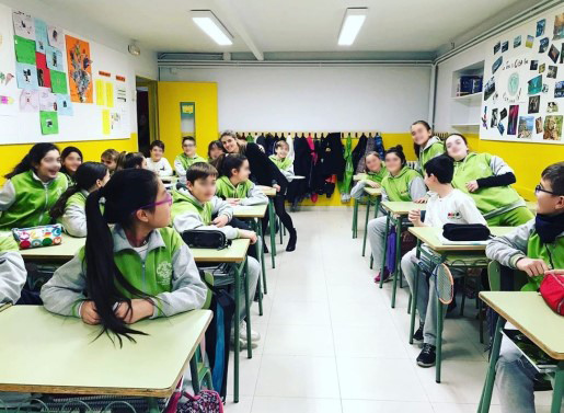 Language Assistant in Spain classroom
