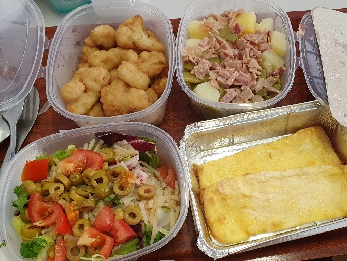 typical spanish school lunch